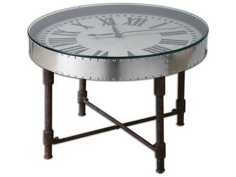 Uttermost Cassem 30.5 Round Clock Table