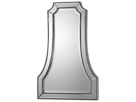 Uttermost Cattaneo 26 x 40 Silver Beaded Wall Mirror UT08077