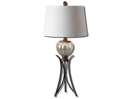 Uttermost Cebrario Mercury Glass Table Lamp UT26598