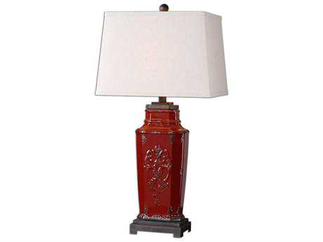 Uttermost Centralia Red Table Lamp