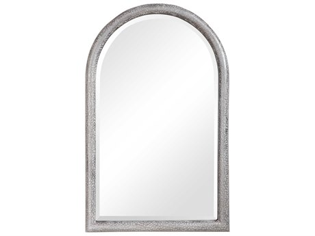 Uttermost Champlain Aged Gray / Silver 26''W x 40''H Arch Wall Mirror