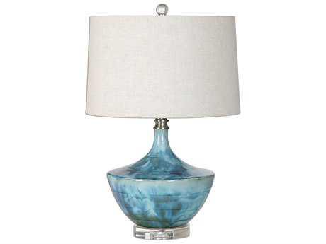Uttermost Chasida Blue Tie Dyed Table Lamp UT270591