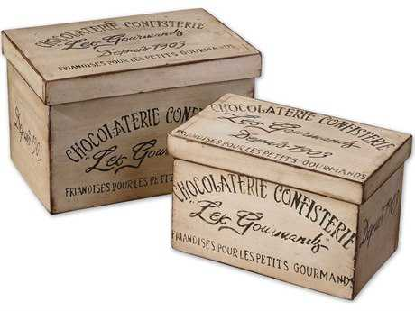 Uttermost Chocolaterie Decorative Boxes (Set of 2) UT19300