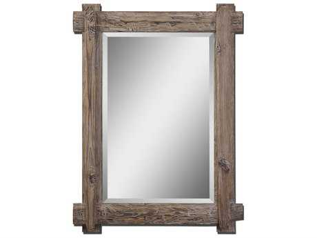 Uttermost Claudio 29 x 39 Wood Wall Mirror UT07635
