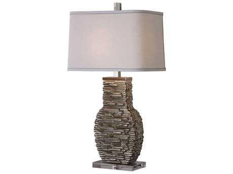 Uttermost Clavin Metallic Silver Table Lamp UT273191
