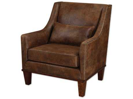 Uttermost Clay Leather Accent Chair