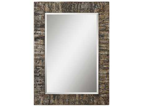Uttermost Coaldale 33 x 45 Bark Wall Mirror