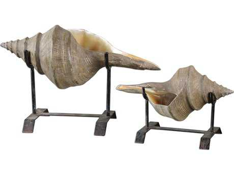 Uttermost Conch Shell Sculpture (2 Piece Set) UT19556