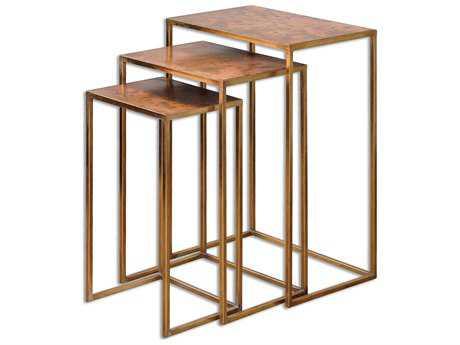 Uttermost Copres 18 x 13 Rectangular Oxidized Nesting Tables (Set of 3) UT24449