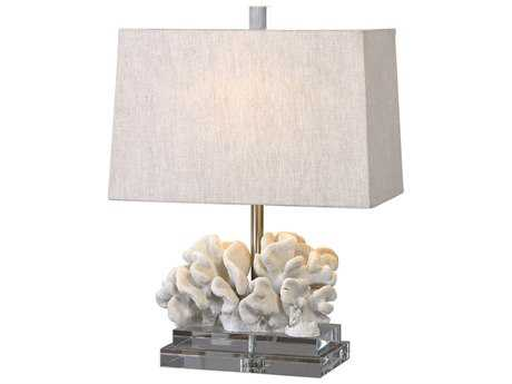 Uttermost Coral Taupe Ivory Table Lamp