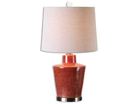 Uttermost Cornell Brick Red Table Lamp UT26903