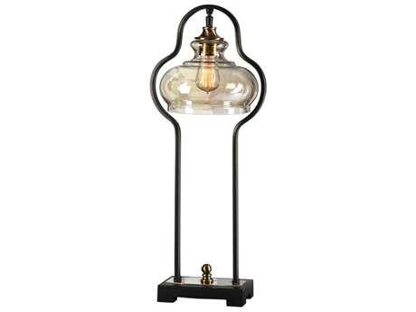 Uttermost Cotulla Aged Black Table Lamp