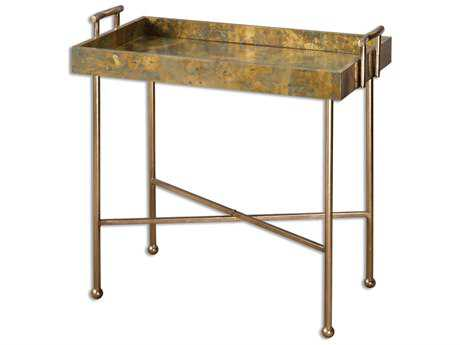 Uttermost Couper 29 x 15.75 Rectangular Oxidized Tray Table