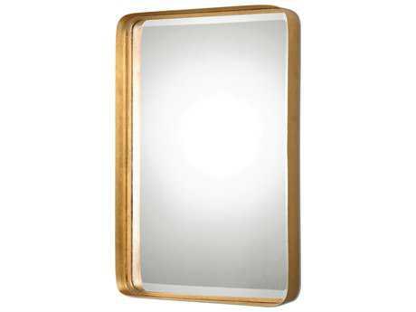 Uttermost Crofton 20 x 30 Rectangular Antique Gold Wall Mirror UT13936