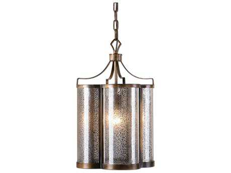 Uttermost Croydon Golden Oil Rubbed Bronze & Mercury Glass Pendant UT22061