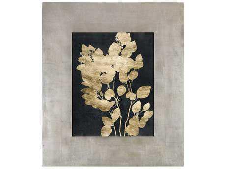 Uttermost Custom Postage Leaves Gold Foil Print UT41569
