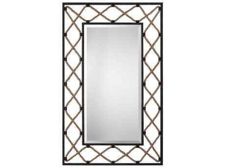 Uttermost Darya Aged Black 32.25''W x 52''H Rectangular Wall Mirror UT09112