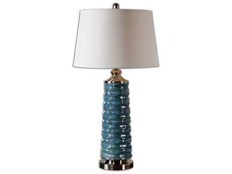 Uttermost Delavan Rust Blue Table Lamp UT26567