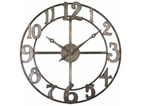 Uttermost Delevan 32 inch Metal Wall Clock UT06681
