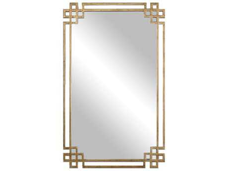 Uttermost Devoll 23 x 37 Rectangular Antique Gold Wall Mirror UT12930