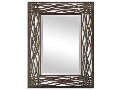 Uttermost Dorigrass 32 x 42 Brown Metal Wall Mirror UT13707