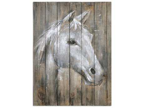 Uttermost Dreamhorse Hand Painted Wall Art UT35312