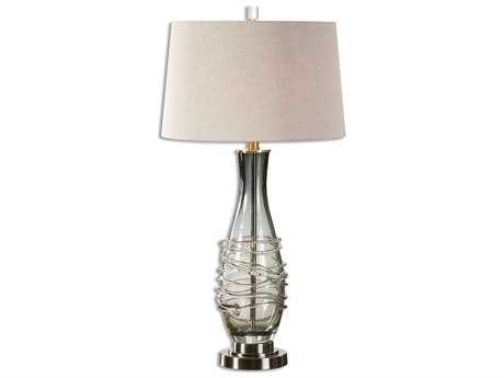 Uttermost Durazzano Charcoal Gray Glass Table Lamp UT26905