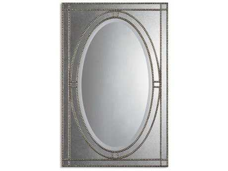 Uttermost Earnestine 29 x 44 Antique Silver Wall Mirror UT08055B