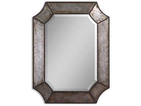Uttermost Elliot 24 x 32 Distressed Aluminum Wall Mirror UT13628B