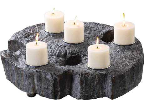 Uttermost Elwin Tree Trunk Candle Holder UT18733