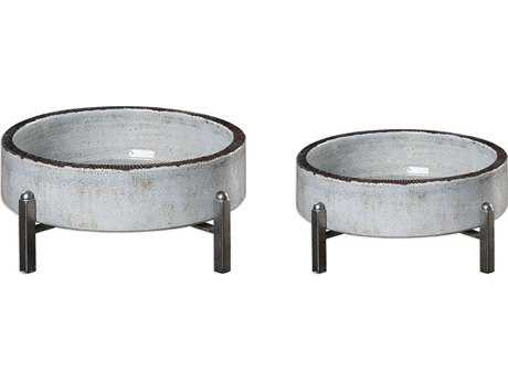 Uttermost Essie Pale Gray Bowls (Set of Two) UT18731