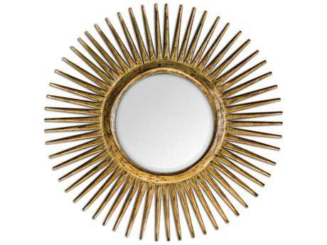 Uttermost Destello 39 Round Gold Starburst Wall Mirror