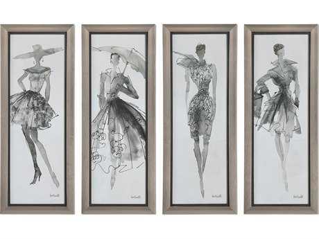 Uttermost Fashion Sketchbook Art (Four-Piece Set) UT33624
