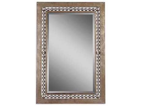 Uttermost Fidda 33 x 49 Antique Silver Wall Mirror