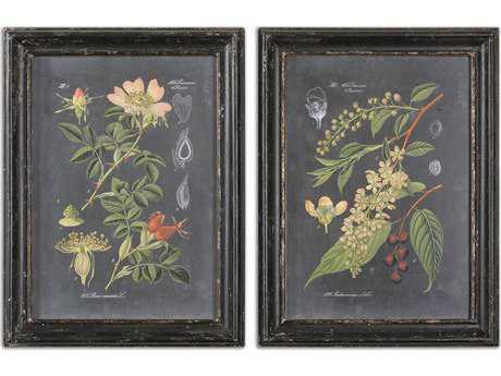 Uttermost Midnight Botanicals Wall Art (2 Piece Set) UT56053