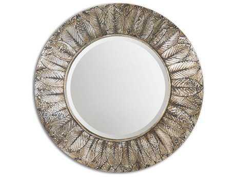Uttermost Foliage 36 Round Silver Leaf Wall Mirror UT07065