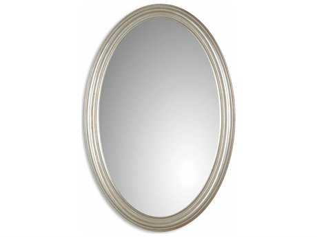 Uttermost Franklin 21 x 31 Oval Silver Wall Mirror UT08601P