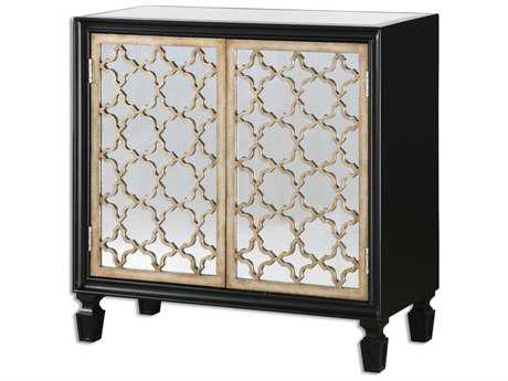 Uttermost Franzea 34 x 14 Rectangular Mirrored Console Cabinet