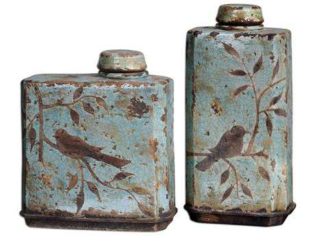 Uttermost Freya Light Sky Blue Containers (2 Piece Set) UT19547