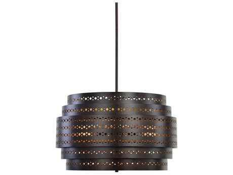 Uttermost Fuller Dark Bronze Three-Light 22'' Wide Pendant Ceiling Light UT21303