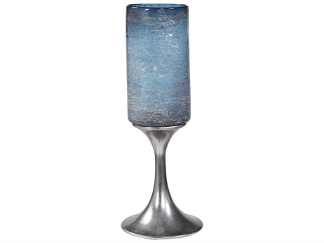 Uttermost Gallah Aged Metallic Silver Candle Holder