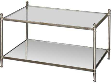 Uttermost Gannon 36 x 23 Rectangular Mirrored Glass Coffee Table