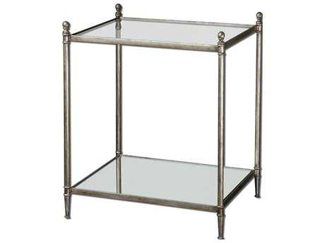 Uttermost Gannon 22.5 x 18.5 Rectangular Mirrored Glass End Table UT24282