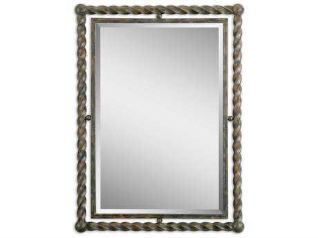 Uttermost Garrick 26 x 35 Wrought Iron Wall Mirror UT01106