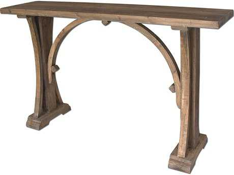 Uttermost Genessis 54 x 14.13 Rectangular Reclaimed Wood Console Table UT24302