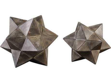 Uttermost Geometric Stars Concrete Sculpture (Set of Two) UT20109