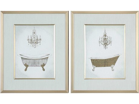Uttermost Gilded Glass Wall Art