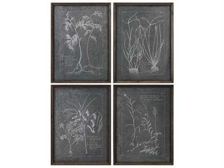Uttermost Grace Feyock Root Study Print Art (Set of Four)
