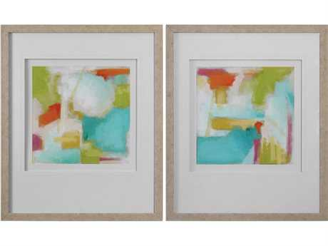 Uttermost Grace Feyock Color Space Watercolor Prints (Set of Two) UT33647
