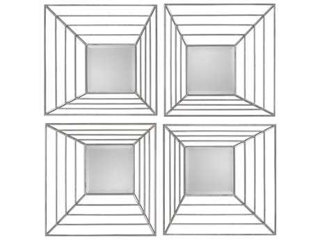 Uttermost Grace Feyock Denain Square Mirrors (Set of Four)